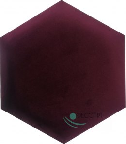 Upholstered Satin Panels Hexagon 2202